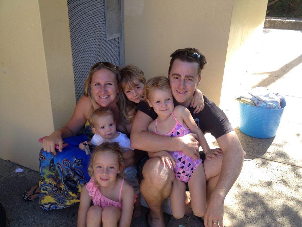 family fun swimming
