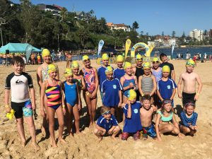 northern beaches competitors at Banana Boat Swim Kids
